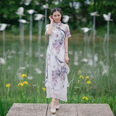oriental silk dress male chinese dress cheongsam qipao