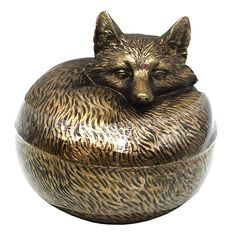 5X5 Gold Round Fox Box | At Home Box Houses, Office Organization, At Home Store, Fox, Work Office Organization, Office Setup, Office Organisation, Foxes