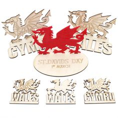 $Try these amazing Welsh Dragons, great for St David's Day and Welsh celebrations. Multiple designs available in various sizes. Each dragon is designed and created here in Wales! ​​​​​​​Material: 3mm Laserable Plywood OR 3mm Acrylic Acrylic: looks sharp, standout, durable and comes with a protective film/cover for transport. Multiple variations of colours available to match any room or design. Plywood: is great to decorate yourself, the surface is suitable for all sorts of paint including…