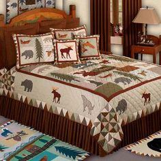 Mountain+Cabin+Decor | Mountain Whispers Bedding Ensemble | Rocky Mountain Cabin Decor