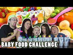 BABY FOOD CHALLENGE!!  Fruits & Vegetables ... Meat Barf!  | FUNnel Vision - http://mystarchefs.com/baby-food-challenge-fruits-vegetables-meat-barf-funnel-vision/