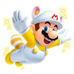 View an image titled 'White Raccoon Mario Art' in our New Super Mario Bros. 2 art gallery featuring official character designs, concept art, and promo pictures. Super Mario Brothers, New Super Mario Bros, Super Mario Art, Super Mario World, Super Smash Bros, Metroid, Geeks, Mario Y Luigi, Nintendo Characters