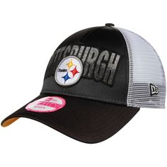 best service ee895 b1b10 NFL Pittsburgh Steelers New Era Women s Truck Shine 9FORTY Adjustable Hat -  Black Pittsburgh Steelers Hats
