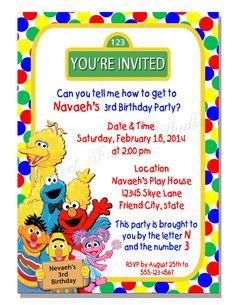 Download Now Free Sesame Street Birthday Invitations Bagvania