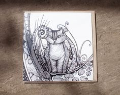Sneaking some new things on Etsy... Hand Drawn Cheshire Cat  Illustrated by JessicaWildeDesigns, £2.80