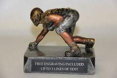 FANTASY FOOTBALL TROPHY AWARD LINEMAN - FREE ENGRAVING!! #Unbranded