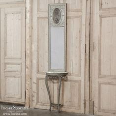 19th Century French Neoclassical Painted Console/Trumeau | www.inessa.com
