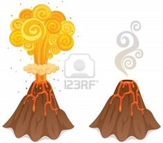 Cartoon volcano how to draw a volcano places to visit two cartoon volcanoes ccuart Images