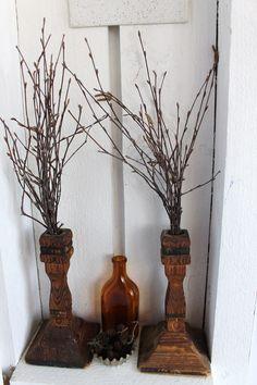 Risut vanhoissa kynttilänjaloissa