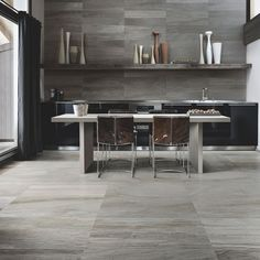 product of the week is Stone Fusion Coal Matt Glazed Porcelain Tile, a trend from Italy. The beautiful tile is a combination of stone, marble and screed cold pressed together. Bright Colored Furniture, Colorful Furniture, Kitchen Tiles, Kitchen Flooring, Wood Wall Tiles, Tiles For Sale, Buy Tile, Tile Design, Kitchen Remodel