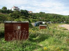 Coldingham Beach Huts Beach Huts, Scotland, Shed, Outdoor Structures, Cabin, Spaces, House Styles, Home Decor, Decoration Home