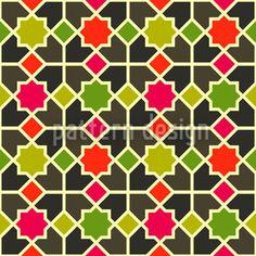 Morocco Color designed by Kerstin Nolte, vector download available on patterndesigns.com Moroccan Art, Vector Pattern, Surface Design, Morocco, Patterns, Artwork, Inspiration, Color, Block Prints