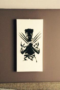 Wolverine Canvas Spray Art