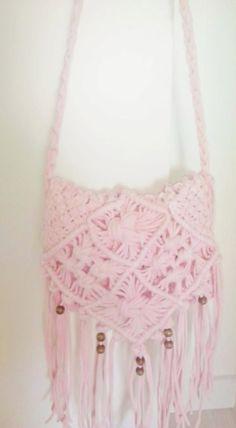 Rose macramé bag by WishUpt on Etsy