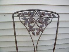 Woodard Garden Chairs / Chantilly Rose Garden Chairs / Set of Four $600