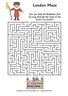 Maze Worksheets for Kids. 20 Maze Worksheets for Kids. Free Printable Mazes and Other Printable Activities for Mazes For Kids Printable, Worksheets For Kids, Free Printable, Coloring Worksheets, Maze Puzzles, Puzzles For Kids, London Activities, Activities For Kids, Kids Word Search