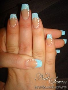blue summer nails best - Page 3 of 27 - nagel-design-bilder.de - blue summer nails best The Effective Pictures We Offer You About Nail A quality picture can te - Sns Dip Nails, Gold Nails, Fun Nails, Faded Nails, Glitter Nails, French Nails, Baby Blue Nails, Valentine's Day Nail Designs, Classic Nails