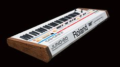 Roland by Custom Synths Vintage Synth, Vintage Keys, Music Machine, Drum Machine, Electronic Music Instruments, Musical Instruments, Audio Sound, Sound Of Music, Roland Keyboard