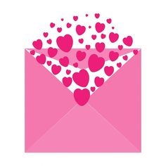 Heart, Hearts, Pink, Envelope, Romance, Love