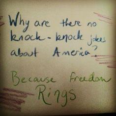 Knock, knock jokes about America? Pack Meeting, Knock Knock Jokes, Stupid Jokes, Citizenship, Aba, Riddles, Puns, Tattoo Quotes, America