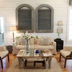 Awesome 38 Living Room Farmhouse Style Decorating Ideas