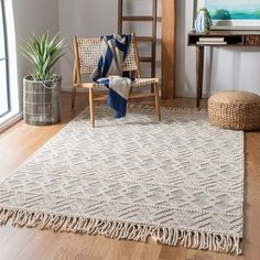 Shop for Safavieh Handmade Natura Cesarina Wool Rug. Get free delivery On EVERYTHING* Overstock - Your Online Home Decor Store! Layered Rugs Bedroom, Bedroom Rugs, Shops, Rug Size Guide, Rugs In Living Room, Dining Room Rugs, Living Spaces, Online Home Decor Stores, Online Shopping