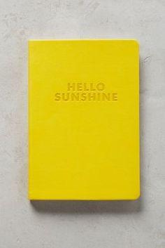 Hello Sunshine Journal | Anthropologie