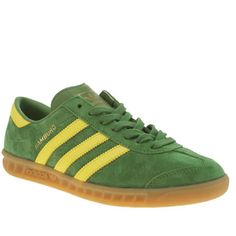 mens adidas green hamburg trainers