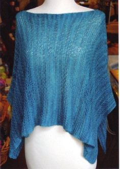 Look at this beautiful summer poncho from Getting Purly With It Patterns available @JimmyBeansWool