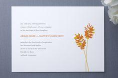 Wheatfield Wedding Invitations Design by Oscar & Emma