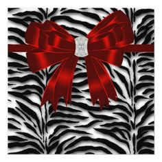 Deals Red Black Zebra All Occasion Square Paper Invitation Card This site is will advise you where to buy Event Invitation Templates, Holiday Invitations, Beach Wedding Invitations, Invitation Paper, Elegant Invitations, Custom Invitations, Invitation Design, Shower Invitation, Invites