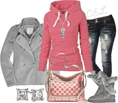 """♥comfy♥cute♥"" by sweetlikecandycane ❤ liked on Polyvore"