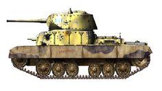 M17/44: Aveva un cannone da 65/64 modificato per il carro (72 colpi) e due mitragliatrici, Breda-Safat (una si trovava in torretta, l'altra nello scafo, con 2200 cartucce). Corazzatura: Frontale: 70mm Laterale: 55mm Posteriore: 40mm Superiore: 18mm Corazzatura torretta: Scudo: 75mm Frontale: 50mm Laterale: 50mm Posteriore:40mm L'equipaggio era tutto armato con delle pistole. La corazza era in un unico blocco fusa, saldata e inclinata di un tot. di gradi.