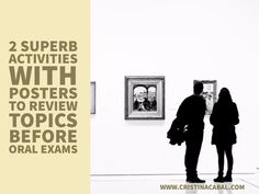 2 activities with posters to review topics before oral exams Conversation Topics, Student Reading, Yes Or No Questions, Ielts, Poster On, Learn English, Fun Activities, Vocabulary, Teaching