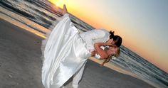Florida sunset beach wedding on Treasure Island, FL