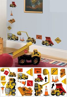 Under Construction Peel and Stick Appliques - Wall Sticker Outlet