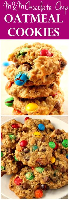 Chocolate Chip Oatmeal Cookies Recipe - soft and chewy oatmeal cookies ...