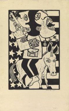 Latin-American Pastime (Passatempo Latino-Americano) Antonio Henrique Abeu Amaral, Brazilian, Latin-American Pastime (Passatempo Latino-Americano), 1967, Woodcut; 69.8 x 45.1 cm (27 1/2 x 17 13/16 inches) (plate), Nancy Sayles Day Collection of Modern Latin American Art 68.066