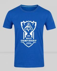 LOL S5 t shirt league of legends world championship 2015 team cloud 9 tshirts