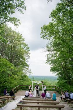 Real Weddings: Amy and Cameron's $4,500 Wedding in Brown County State Park Nature Center Amphitheater