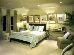 Green Bedroom Colors which paint color goes with brown furniture | white and camel