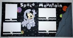 "Mickey's ""Space Mountian"" Disney Magic, Disney Mickey, Walt Disney, Mickey Mouse, Scrapbook Designs, Scrapbook Sketches, Scrapbooking Layouts, Disney Cards, Disney Rides"