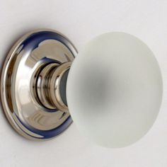 Buy Smooth Glass Door Knobs Nickel Backs   Glass Door Knobs Handmade In  England By Our Master Glass Maker. Smooth Design In Several Lovely Colours  With A ...