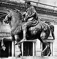 Marcus Aureliuksen ratsastajapatsas, 161-180 (jaa), antiikin Rooma