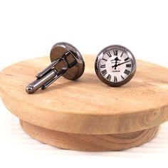Vintage railway clock #cufflinks #handmade