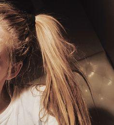 #scrunchies #aesthetics #blonde #hair #thin