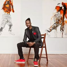 """The Atlanta artist launched a poster campaign titled """"Fahamu Pecou Is the Shit."""" But his works about black male identity are as serious as they are sometimes funny. High Museum, Art Museum, Famous Black Artists, Im Excited, The New Yorker, African Art, Art Boards, Black Men, Interview"""