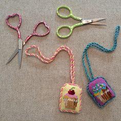 Fun scissor fobs, for fun scissors ~ canvases by Kirk&Bradley