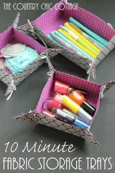 Quick fabric storage trays tutorial