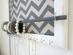 Hey, I found this really awesome Etsy listing at https://www.etsy.com/listing/171624776/jewelry-organizer-jewelry-holder-chevron